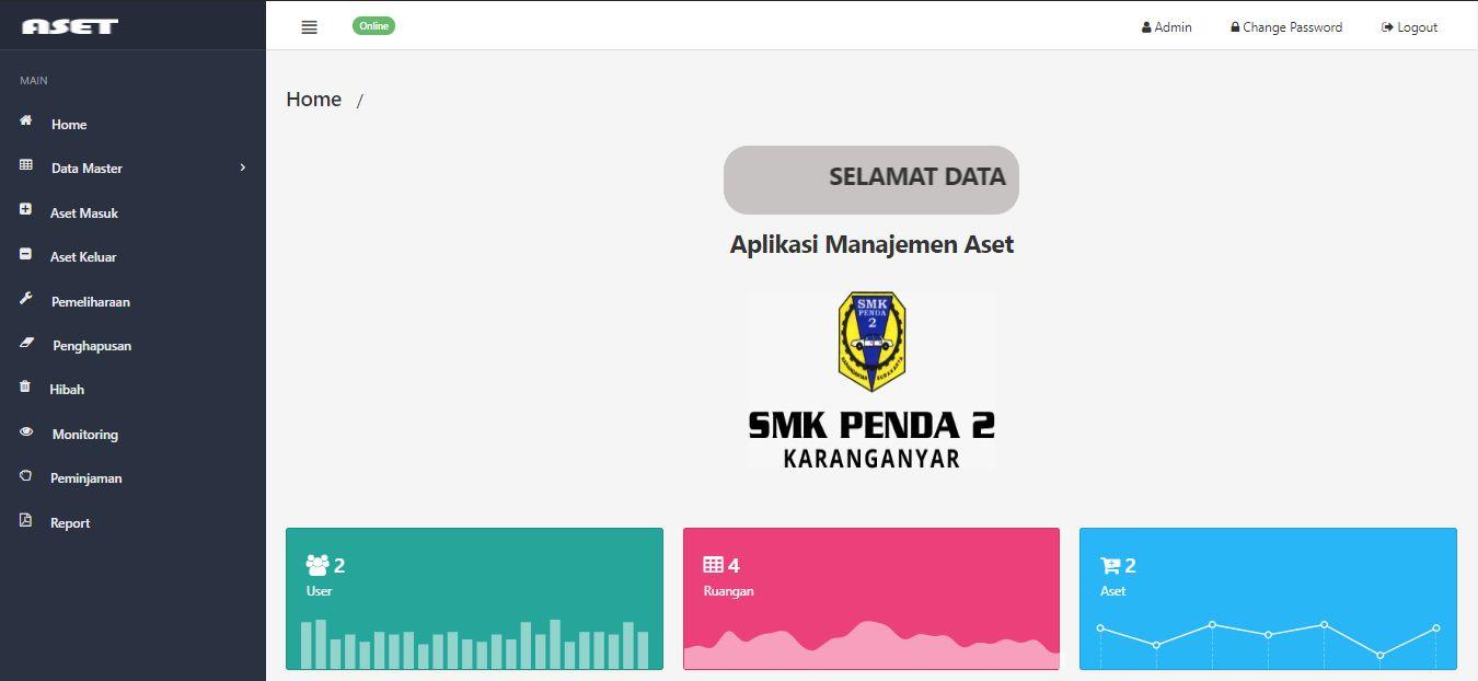 Aplikasi Manajemen Aset Pada SMK Penda 2 Karanganyar